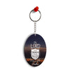 In Lord My Heart Trusts Oval Key Chain