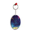 In The Sky Oval Key Chain