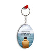 Jesus is with Me Oval Key Chain