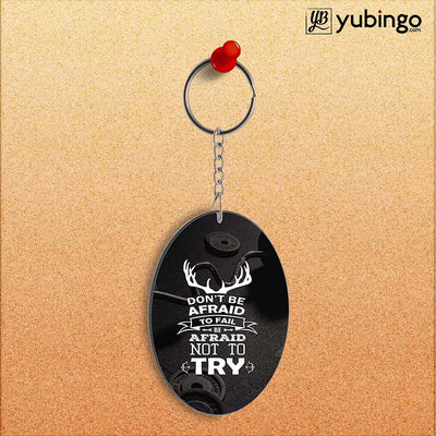 Keep Trying Oval Key Chain-Image2
