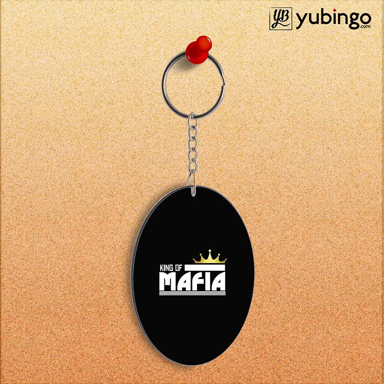 King of Mafia Oval Key Chain