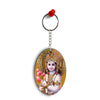 Krishna With Flowers Oval Key Chain