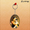 Krishna With Yashoda Oval Key Chain-Image2