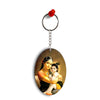 Krishna With Yashoda Oval Key Chain