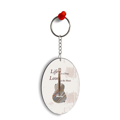 Life is a Song Oval Key Chain