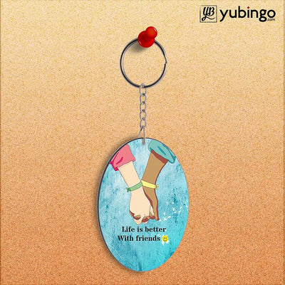 Life is Better with Friends Oval Key Chain-Image2