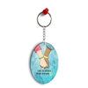 Life is Better with Friends Oval Key Chain