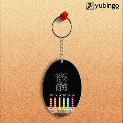 Light Up My Life Oval Key Chain-Image2