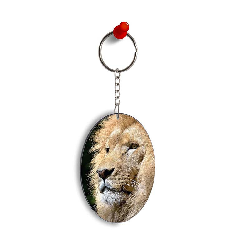 Lion Oval Key Chain