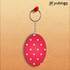 Little Hearts Oval Key Chain-Image2