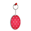 Little Hearts Oval Key Chain