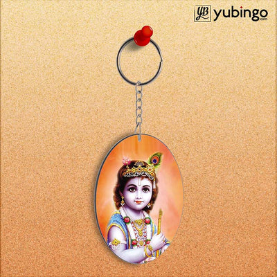Little Krishna Oval Key Chain-Image2