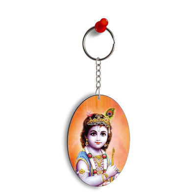 Little Krishna Oval Key Chain