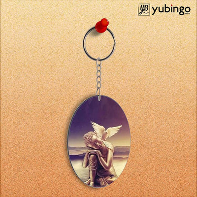 Lord Buddha Oval Key Chain-Image2
