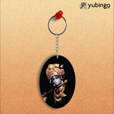 Lord Krishna Oval Key Chain-Image2