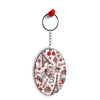 Love In Paris Oval Key Chain
