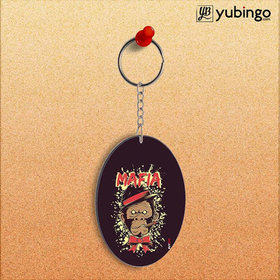 Mafia Monkey Oval Key Chain-Image2