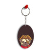 Mafia Pug Oval Key Chain