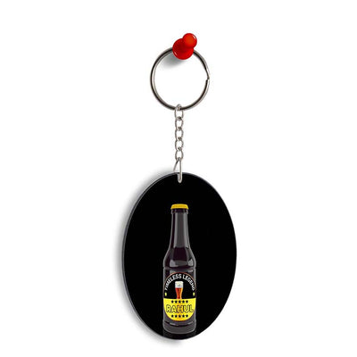 Name on Bottle Oval Key Chain