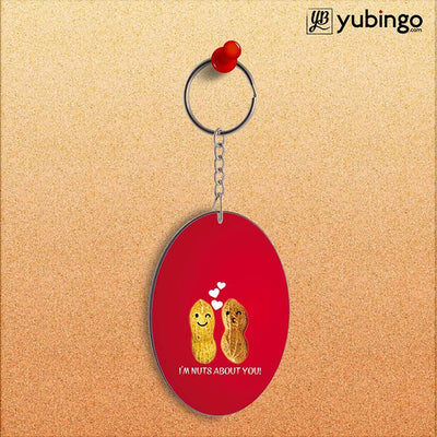 Nuts About You Oval Key Chain-Image2
