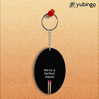 Perfect Match Oval Key Chain-Image2
