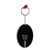 Perfect Match Oval Key Chain
