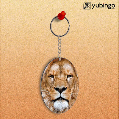 Portrait of Lion Oval Key Chain-Image2