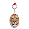 Portrait of Lion Oval Key Chain