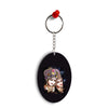 Radha And Krishna Oval Key Chain