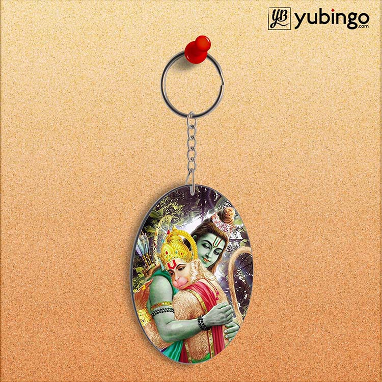 Ram & Hanuman Ji Oval Key Chain
