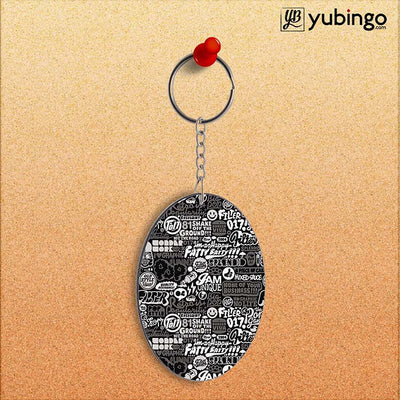 Random Quotes Oval Key Chain-Image2
