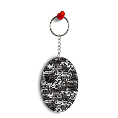Random Quotes Oval Key Chain