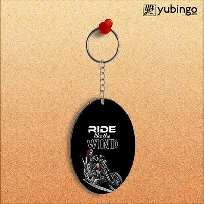 Ride the Wind Oval Key Chain-Image2