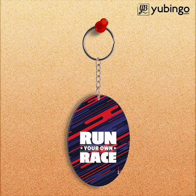 Run Own Race Oval Key Chain-Image2