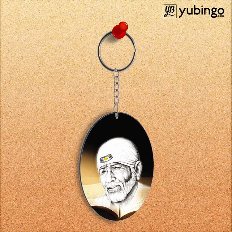 Sai Baba Oval Key Chain