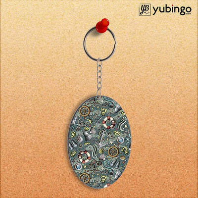 Sea Green Oval Key Chain-Image2