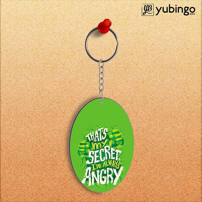 Secret I Am Always Angry Oval Key Chain-Image2