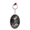 Shades Of Grey Oval Key Chain