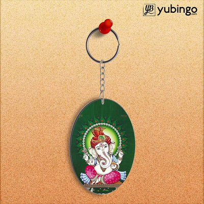 Shubh Labh Oval Key Chain-Image2