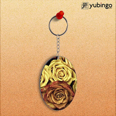 So Many Rose Oval Key Chain-Image2