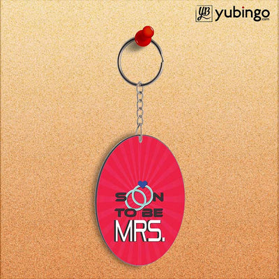 Soon to be Mrs. Oval Key Chain-Image2