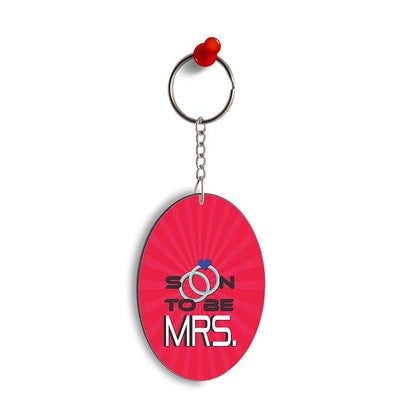 Soon to be Mrs. Oval Key Chain