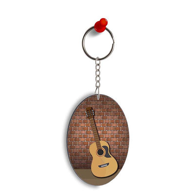 The Acoustic Oval Key Chain