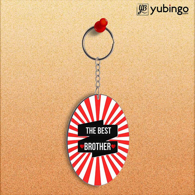 The Best Brother Oval Key Chain-Image2