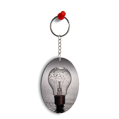 The Bulb Oval Key Chain