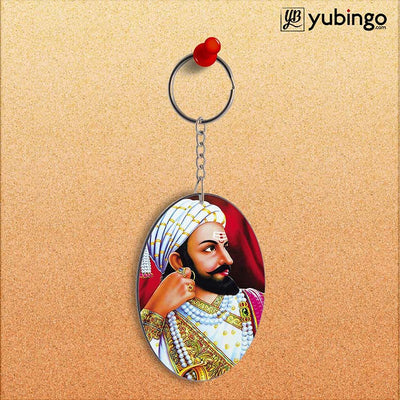 The Great Shivaji Oval Key Chain-Image2