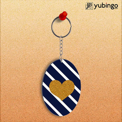 The Heart Oval Key Chain-Image2
