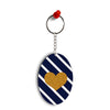The Heart Oval Key Chain