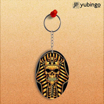 The Mummy Skull Oval Key Chain-Image2