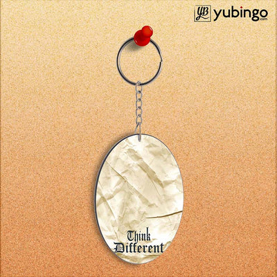 Think Different Oval Key Chain-Image2